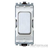 MK Grid System Blank Insert Brushed Stainless Steel White Insert K4880BSSW