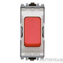 MK Grid Plus 1-Pole 2-Way Retractive Switch Module 10A Red K4885RED