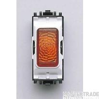 MK Grid System Indicator Module White Amber Insert 200-250V K4889AMB