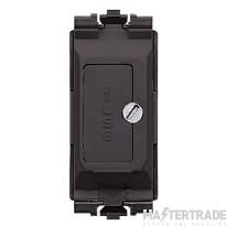 MK Grid Plus 1-Gang Fuse Unit 13A Black K4890BLK