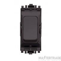 MK Switch Module Black One Module Double Pole One Way 20A K4896BLK