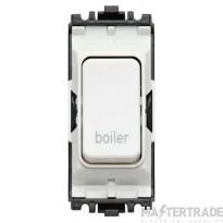 MK Grid Plus 2-Pole Boiler Switch Module 1-Way 20A White K4896BRWHI