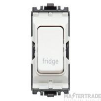 MK Grid Plus 2-Pole Fridge Switch Module 1-Way 20A White K4896FGWHI