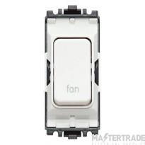MK Grid Plus 2-Pole Fan Switch Module 1-Way 20A White K4896FNWHI