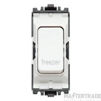 MK Grid Plus 2-Pole Freezer Switch Module 1-Way 20A White K4896FZWHI