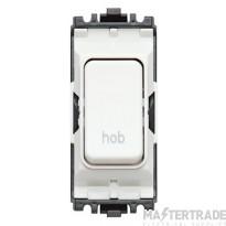 MK Grid Plus 2-Pole Hob Switch Module 1-Way 20A White K4896HBWHI