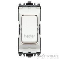 MK Grid Plus 2-Pole Heater Switch Module 1-Way 20A White K4896HRWHI