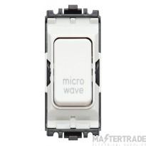 MK Grid Plus 2-Pole Microwave Switch Module 1-Way 20A White K4896MWWHI