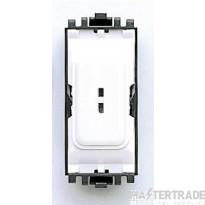 MK 1-Pole 2-Way Decorative Secret Key Switch Module 20A White K4898WHI