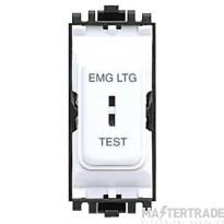 MK 2-Pole Emergency Lighting Key Switched Module 20A White K4917ELWHI