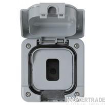 "MK Masterseal Plusâ""¢ 1/2-Gang Modular Enclosure 95 x 95 x 80mm Grey K56414GRY"
