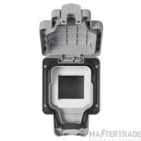 MK Masterseal Plus 1-Gang Data/Telecom Module Enclosure 157 x 110 x 89mm Grey K56423GRY