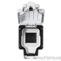 MK Weatherproof Data Enclosure Masterseal Plus Euro 2 Module White K56423WHI