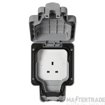 """MK Masterseal Plusâ""""¢ 1-Gang Unswitched Socket 13A Grey K56480GRY"""