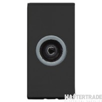 MK Moulded TV Coaxial Module IEC Female Non Isolated Screened Black K5851BLK