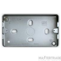 MK Grid Plus 2-Gang Surface Mount Metal Back Box 8 x 20mm Knockouts K8892ALM