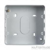 MK Grid Plus 6/8-Module Steel Surface Mount Back Box 133 x 133 x 40mm K8893ALM