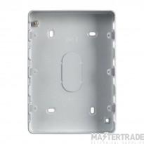 MK Grid Plus 9/12-Gang Steel Surface Mount Back Box 194 x 133 x 40mm K8895ALM