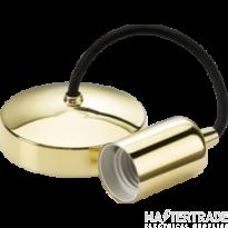 "Knightsbridge 8270PB 6"" E27 Contemporary Pendant Set - Polished Brass"