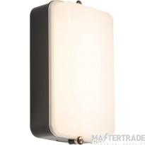 Knightsbridge AMLEDB 230V IP54 5W LED Security Amenity Bulkhead Black Base with Opal Diffuser Cool White 4000K
