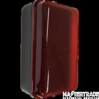 Knightsbridge AMLEDR 230V IP54 5W LED Security Amenity Bulkhead Black Base with Red Diffuser