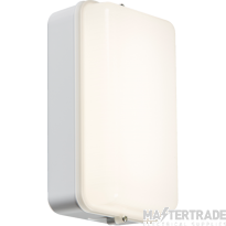 Knightsbridge AMLEDW 230V IP54 5W LED Security Amenity Bulkhead White Base with Opal Diffuser Cool White 4000K