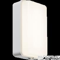 Knightsbridge AMLEDWS 230V IP54 5W LED Security Amenity Bulkhead C/W M-Sensor White