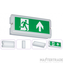 Knightsbridge EMLED2A Slimline LED Emergency Exit Surface Bulkhead 3hrM/NM IP65 3W