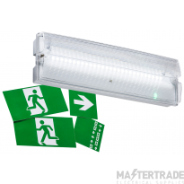 Knightsbridge EMLED4 LED Emergency Exit Surface Bulkhead with Legends 3hrNM/M IP65 3W