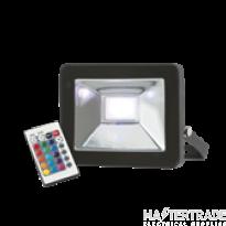 Knightsbridge FLF20RGB Die-Cast 20W LED Floodlight RGB Black IP65 c/w Remote Control