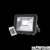 Knightsbridge FLF30RGB Die-Cast 30W LED Floodlight RGB Black IP65 c/w Remote Control