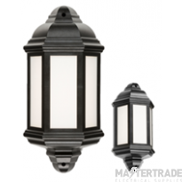 Knightsbridge 8W IP54 LED Half Wall Lantern 4000K Black LANT3
