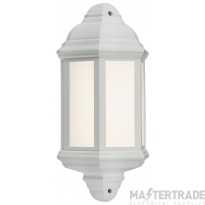 230V IP54 LED Half Wall Lantern - White