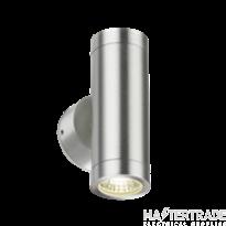 Knightsbridge IP65 LED Twin Wall Up & Down Light 2x3W Chrome LWALL2