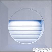 Knightsbridge NH016W IP44 14 x White LED Grey Aluminium Square Recessed Wall Light