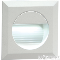 Knightsbridge NH019W 230V IP54 Recessed Square Indoor/Outdoor LED Guide/Stair/Wall Light White LED