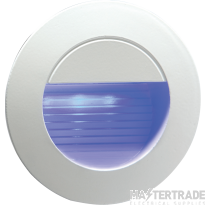 Knightsbridge NH020B 230V IP54 Recessed Round Indoor/Outdoor LED Guide/Stair/Wall Light Blue LED