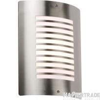 Knightsbridge NH028 Wall Light E27 40W Stainless Steel