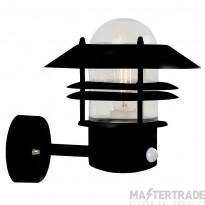 Nordlux 25031003 Blokhus Wall Lantern w/ Sensor Black