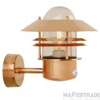 Nordlux 25031030 Blokhus Wall Lantern w/ Sensor Copper