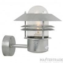 Nordlux 25031031 Blokhus Wall Lantern w/ Sensor Galvanized