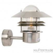 Nordlux 25031034 Blokhus Wall Lantern w/ Sensor Stainless Steel