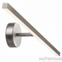 Nordlux 83071032 IP S13 60 Bathroom Wall Light Brushed Steel