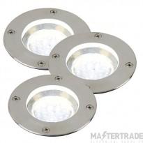 Nordlux 96430034 Tilos 3-Kit LED Groundlights Stainless Steel