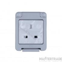 Niglon WSE131 Socket 1G Unswd IP55 Grey