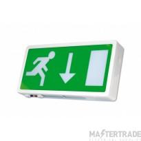 NVC Lexington NLE/3/LED/STM3 LED Emergency Exit Box 3hrM Self Test Legend Down