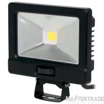 NVC Odessa V2 NOD/V2/20/BK/PIR-PEC/840  20W LED Floodlight 4000K 2485lm Black c/w PIR detector