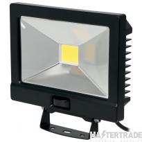 NVC Odessa V2 NOD/V2/30/BK/PIR-PEC/840 30W LED Floodlight 4000K 3000lm Black c/w PIR detector