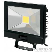 NVC Odessa V2 NOD/V2/50/BK/PIR-PEC/840 50W LED Floodlight 4000K 5040lm Black c/w PIR detector