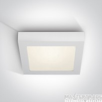 One Light 62130AF/W/C WHITE PLAFO LED 30w CW IP40 230v